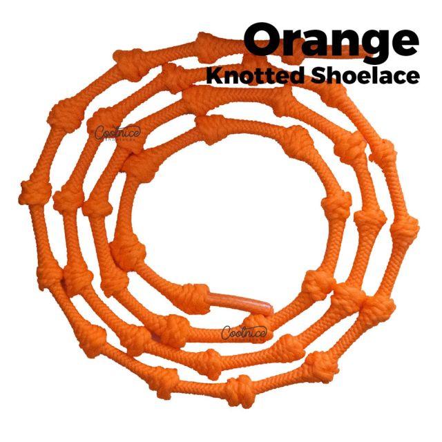 oFashion Knotted No Tie Shoelaces - Orange Main