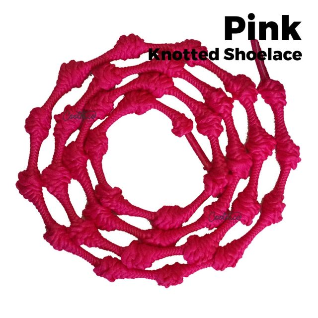 oFashion Knotted No Tie Shoelaces - Pink Main