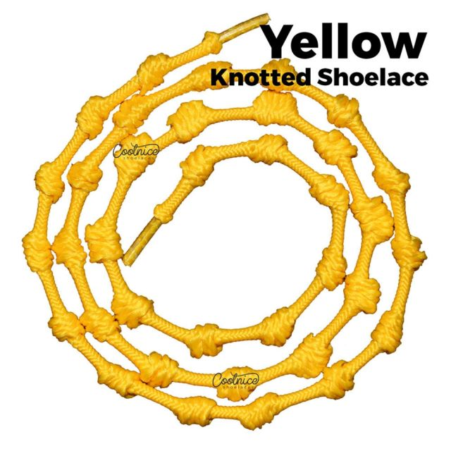 Coolnice Knotted No Tie Shoelaces - Yellow Main