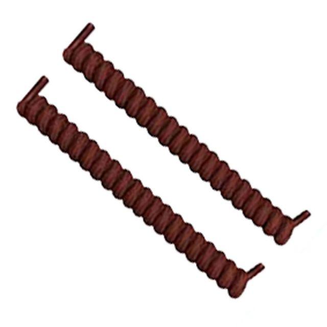 Curly Elastic No Tie Shoelace Brown