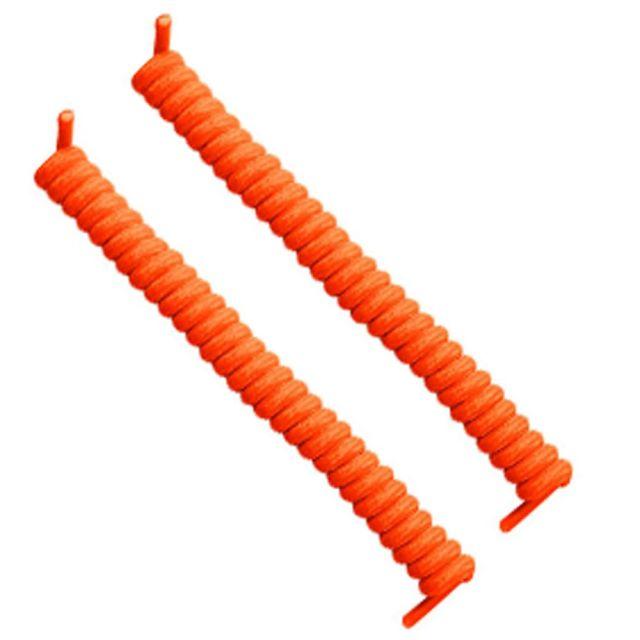Curly Elastic No Tie Shoelace Neon Orange