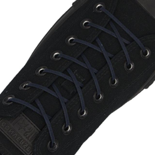 Length: 60cm | Width: 3mm | Flat Dark Blue Wax Shoelace