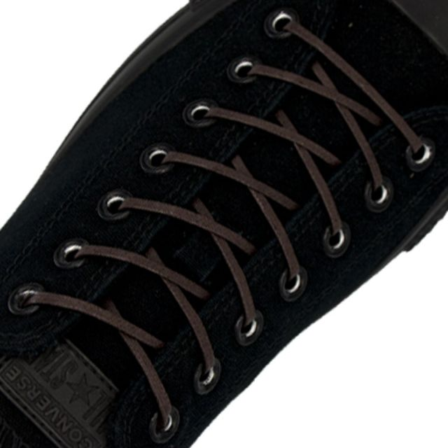 Length: 60cm   Width: 3mm   Flat Dark Brown Wax Shoelace
