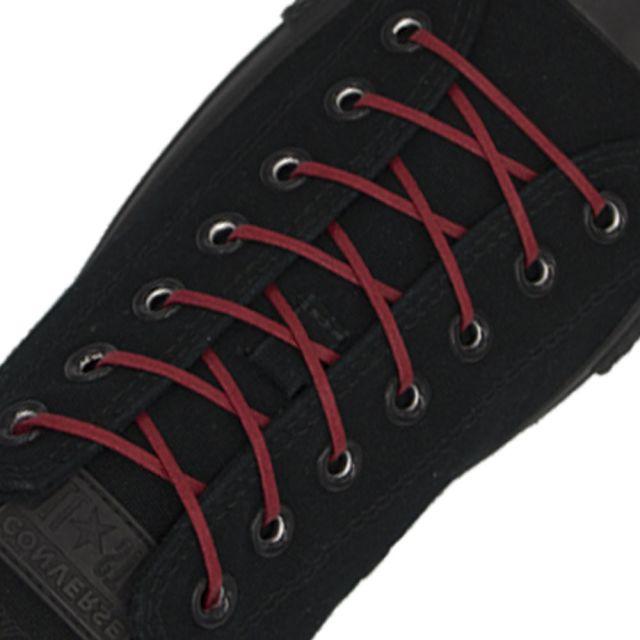 Length: 60cm | Width: 3mm | Flat Dark Red Wax Shoelace