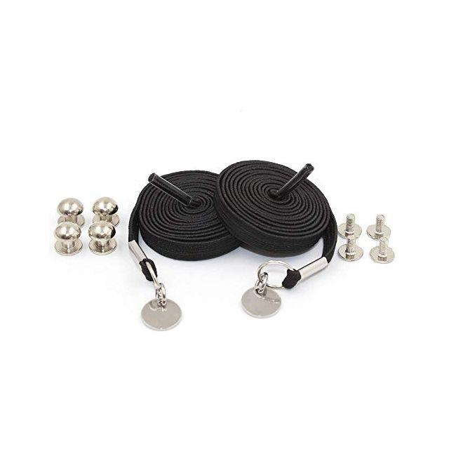 Loop Flat Elastic No Tie Shoelaces - Black