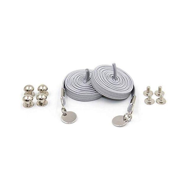 Grey Loop Flat Elastic No Tie Shoelaces