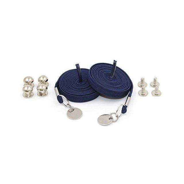 Navy Blue Loop Flat Elastic No Tie Shoelaces