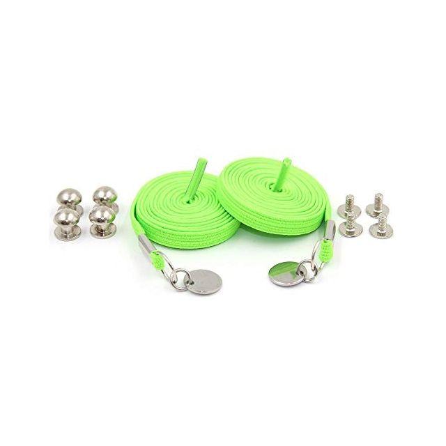 Neon Green Loop Flat Elastic No Tie Shoelaces