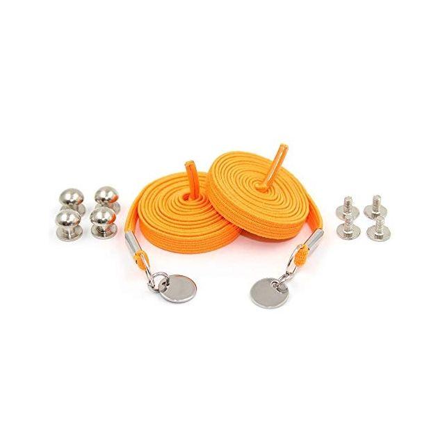 Orange Loop Flat Elastic No Tie Shoelaces