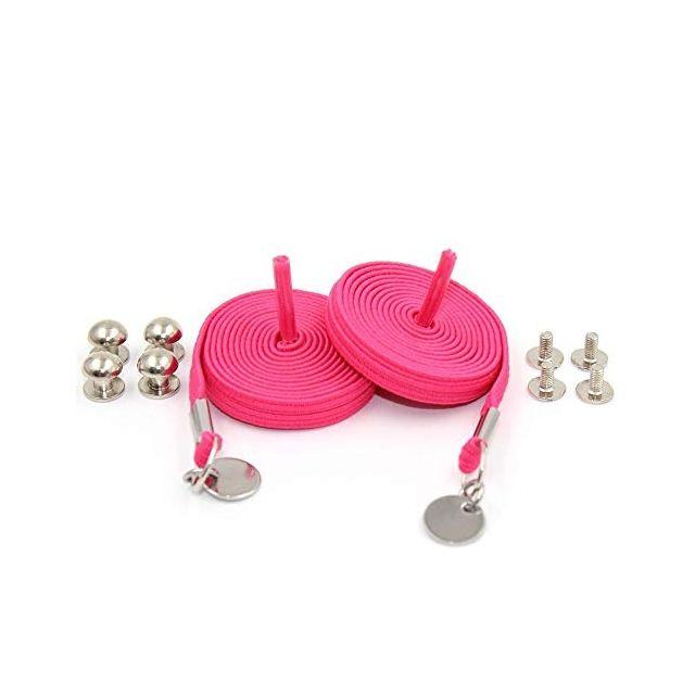 Pink Loop Flat Elastic No Tie Shoelaces