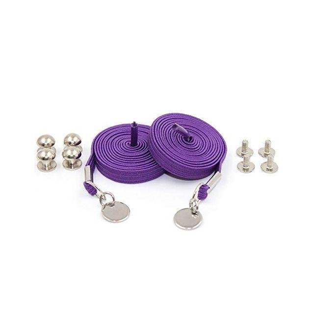 Purple Loop Flat Elastic No Tie Shoelaces