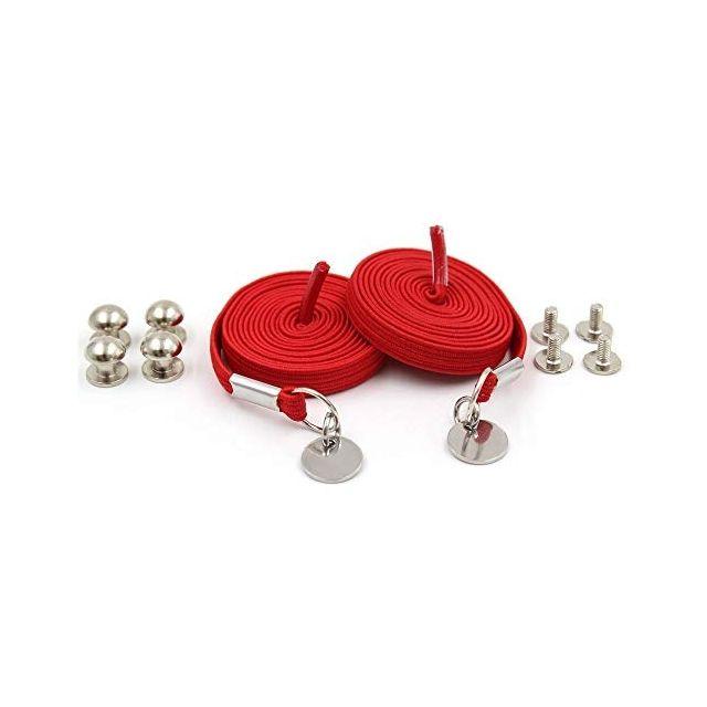 Red Loop Flat Elastic No Tie Shoelaces