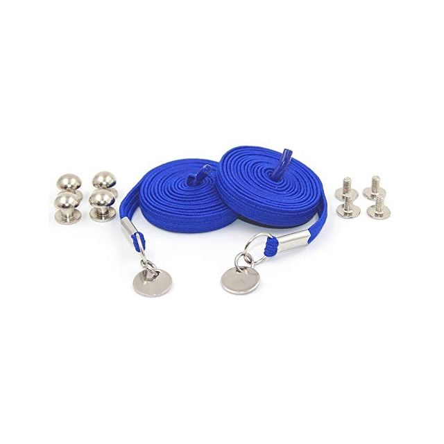 Royal Blue Loop Flat Elastic No Tie Shoelaces