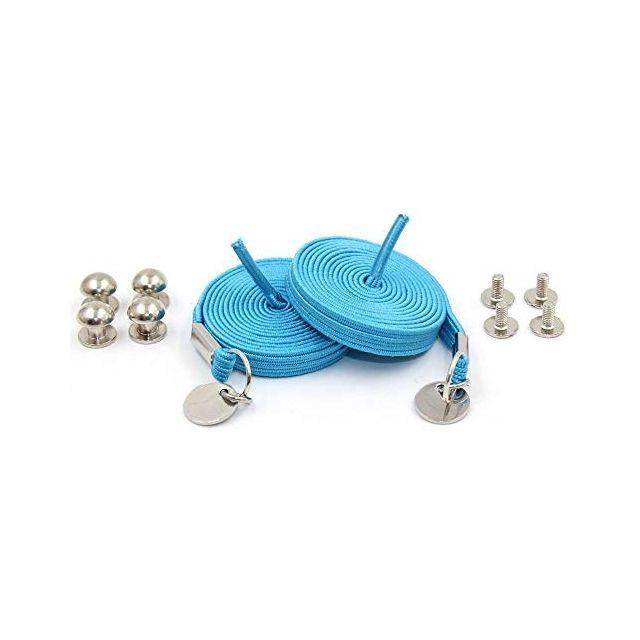 Sky Blue Loop Flat Elastic No Tie Shoelaces