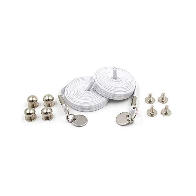 Loop Flat Elastic No Tie Shoelaces - White