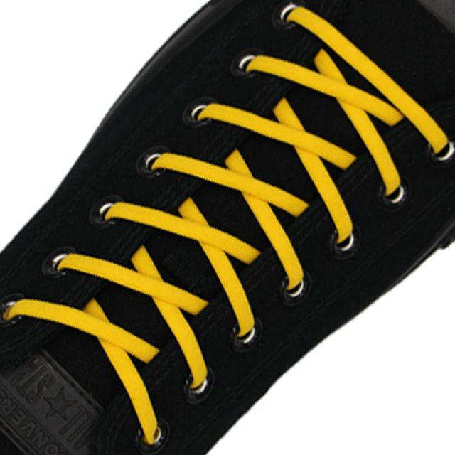 Dark Yellow Elastic Shoelace - 30cm Length 5mm Diameter