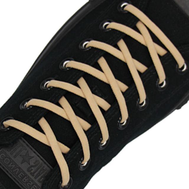 Khaki Elastic Shoelace - 30cm Length 5mm Diameter