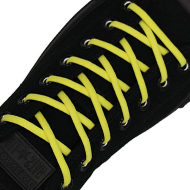 Lemon Yellow Elastic Shoelace - 30cm Length 5mm Diameter