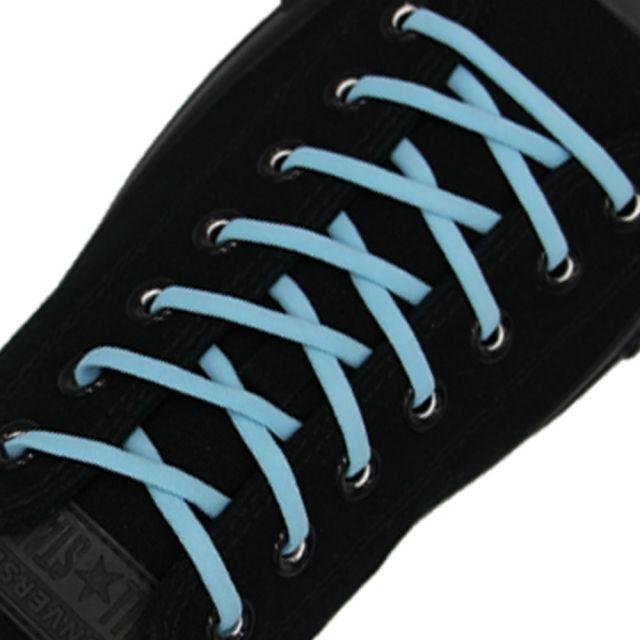 Light Blue Elastic Shoelace - 30cm Length 5mm Diameter