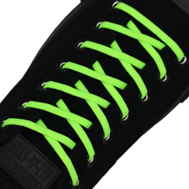 Neon Green Elastic Shoelace - 30cm Length 5mm Diameter