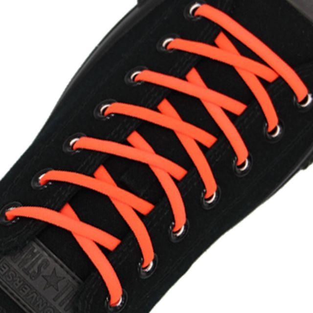Neon Orange Elastic Shoelace - 30cm Length 5mm Diameter
