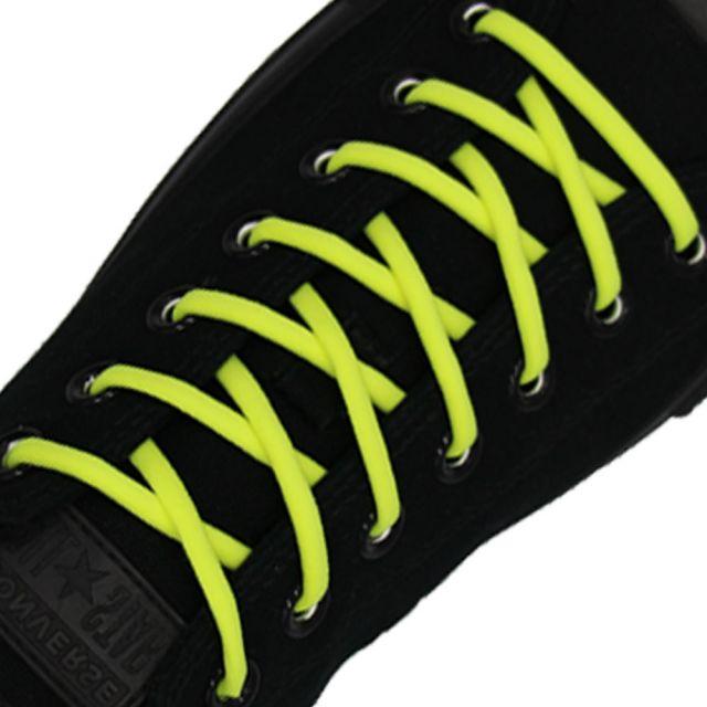 Neon Yellow Elastic Shoelace - 30cm Length 5mm Diameter
