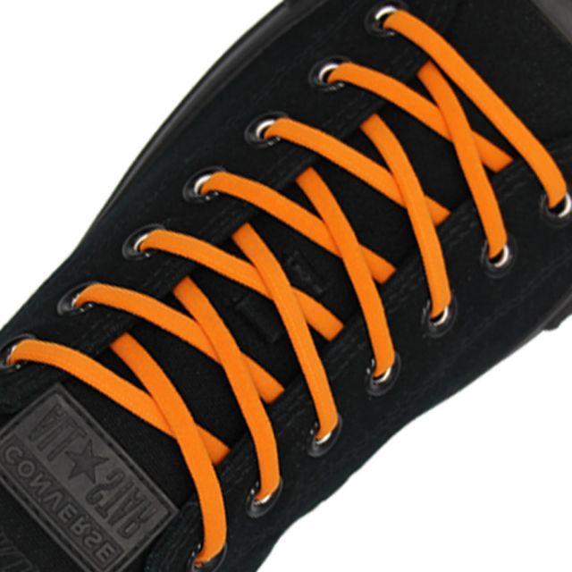 Orange Elastic Shoelace - 30cm Length 5mm Diameter