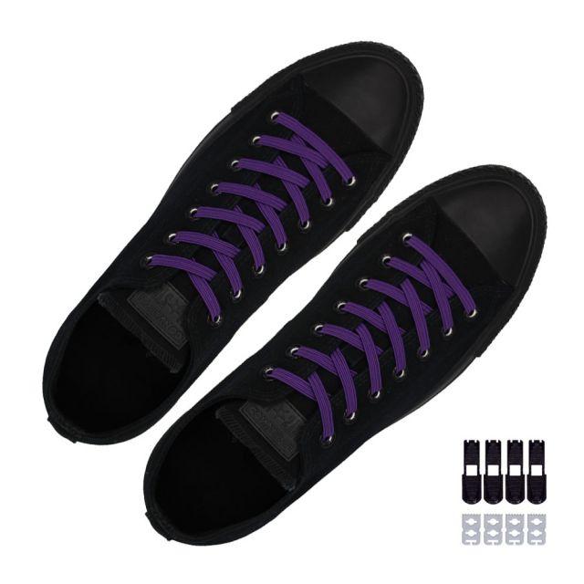 Coolnice Flat Elastic No Tie Shoelaces - Purple