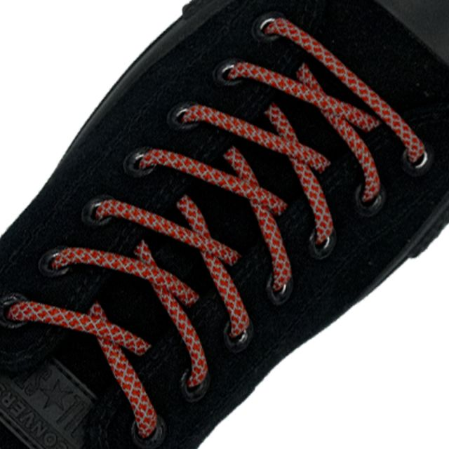 Reflective Shoelaces Round Red 100 cm - Ø5mm Cross