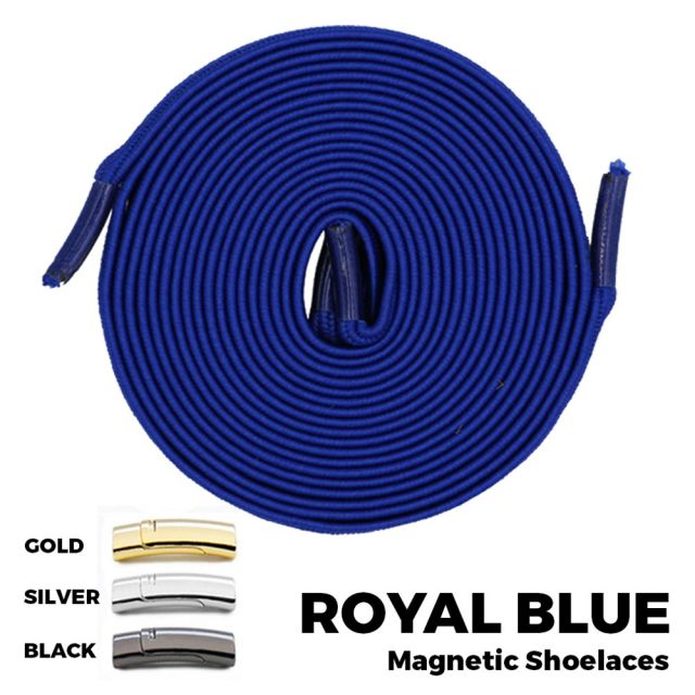 Royal Blue Magnetic Shoelace Lock Flat Elastic No-Tie Laces