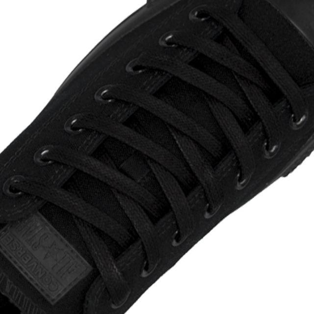 Length: 60cm | Width: 7mm | Flat Black Wax Shoelace