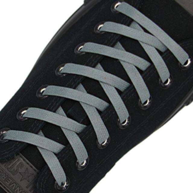 Length: 60cm | Width: 7mm | Flat Grey Wax Shoelace