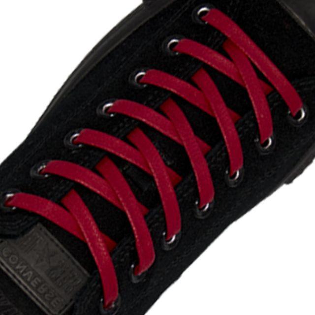 Length: 60cm | Width: 7mm | Flat Red Wax Shoelace