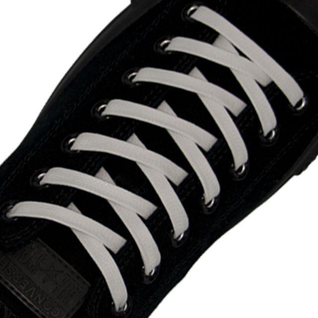 Length: 60cm | Width: 7mm | Flat White Wax Shoelace