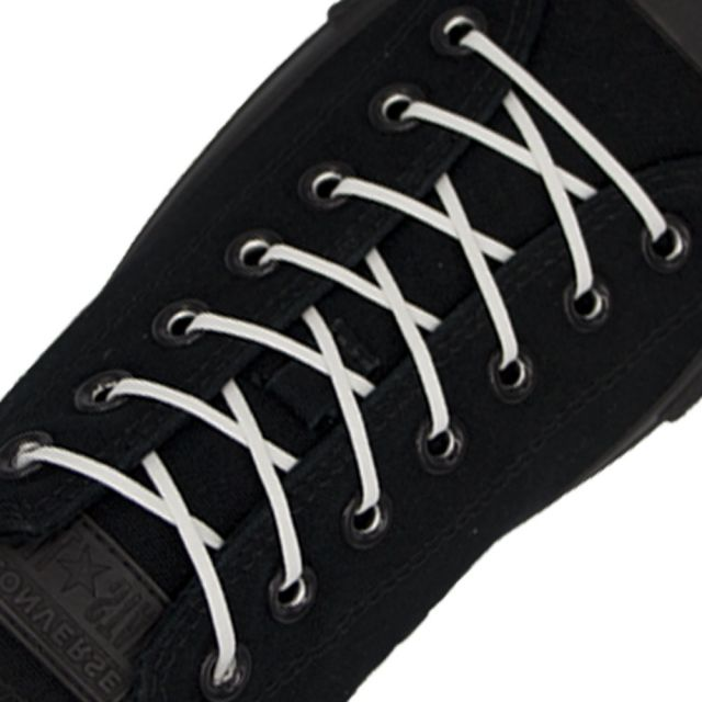 Length: 60cm | Width: 3mm | Flat White Wax Shoelace