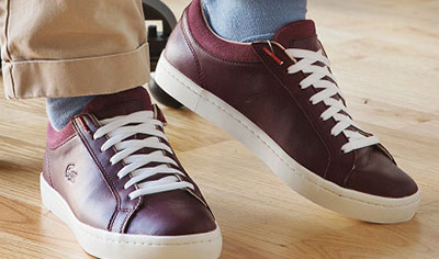 No tie shoelaces that you can lace the way you want them.